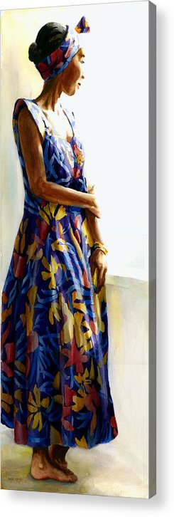 Figures Acrylic Print featuring the painting Model Repose II by Carolyn Epperly