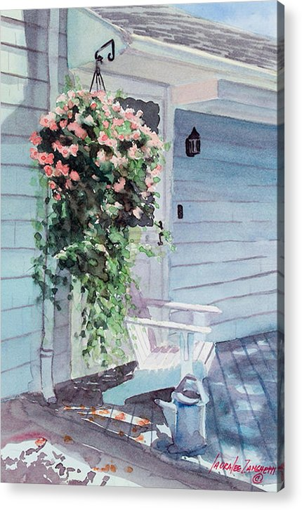 Flowers Watercolor Acrylic Print featuring the painting Morning Shadows by Laura Lee Zanghetti