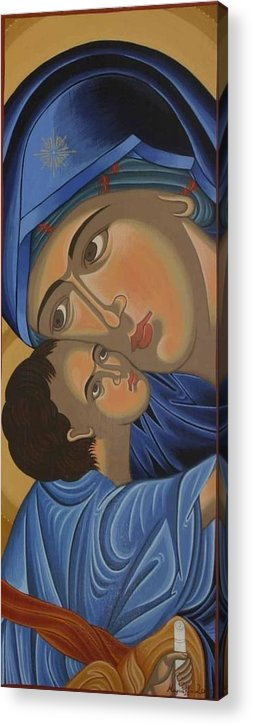 Marinella Owens Acrylic Print featuring the painting Motherlove by Marinella Owens