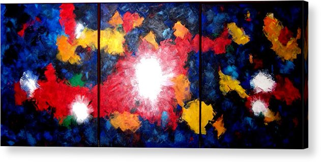 Huge 66 Inch Abstract Acrylic Acrylic Print featuring the painting Mothers Brood by Linda Powell