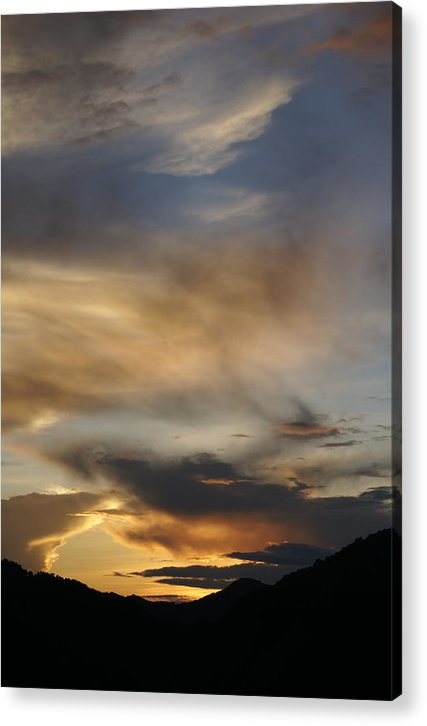 Hills Acrylic Print featuring the photograph Mussoorie Sunset 13 by Padamvir Singh