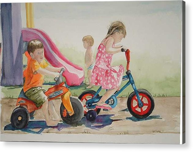 Watercolor Acrylic Print featuring the painting My Sisters Grandkids by Diane Ziemski