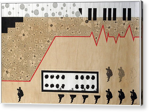 Music Acrylic Print featuring the drawing Mystry Of Music 3 by Bharat Gothwal