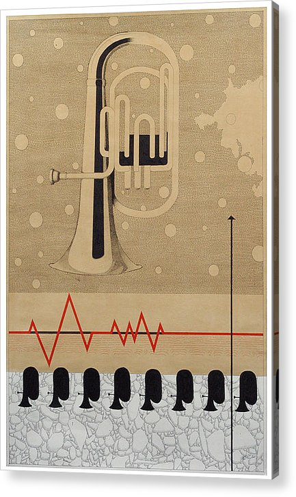 Music Acrylic Print featuring the drawing Mystry Of Music 5 by Bharat Gothwal