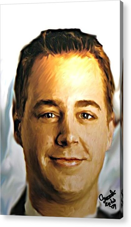 Mcgee.ncis.people Digital Acrylic Print featuring the photograph Ncis Mcgee 2 by Crystal Webb