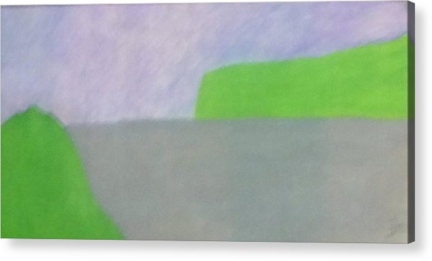 Landscape Acrylic Print featuring the painting No. 432 by Vijayan Kannampilly
