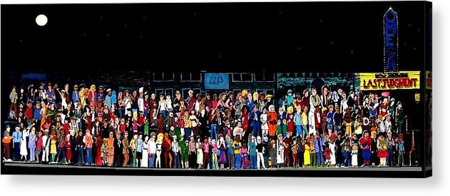 The End Acrylic Print featuring the mixed media now showing LAST JUDGMENT by Richard Hubal