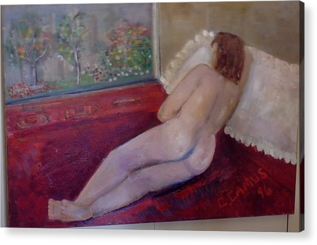 Art Acrylic Print featuring the painting Nude- Derriere 1 by Carlos Camus