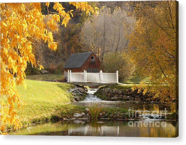 Mill Acrylic Print featuring the photograph Old Mill In Autumn by Dennis Hammer