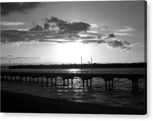 Water Acrylic Print featuring the photograph Ozzy Pier by Stevie Smudge