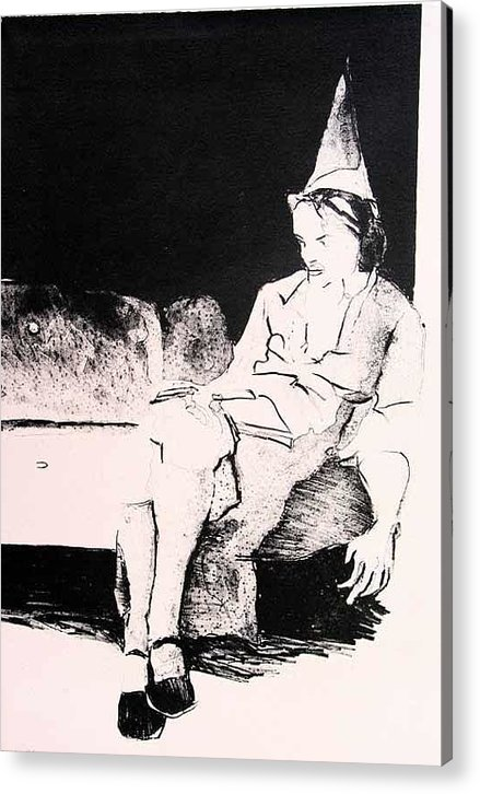 Lithograph Acrylic Print featuring the painting Party Alone by Brad Wilson