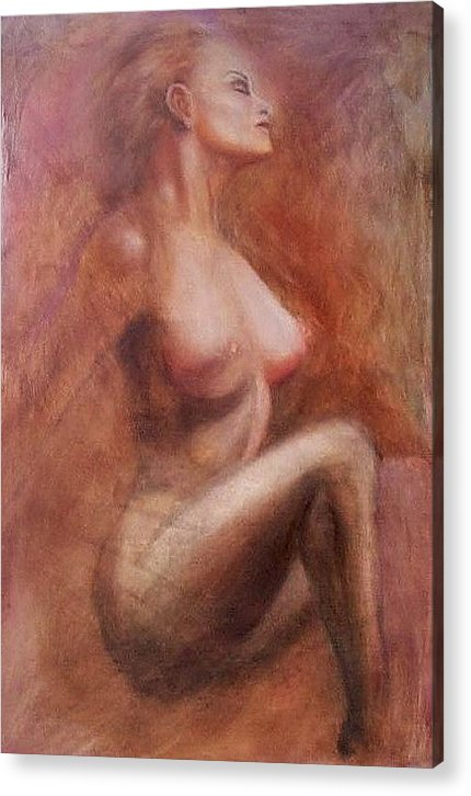 Woman Acrylic Print featuring the painting Passionate Woman by Elizabeth Silk