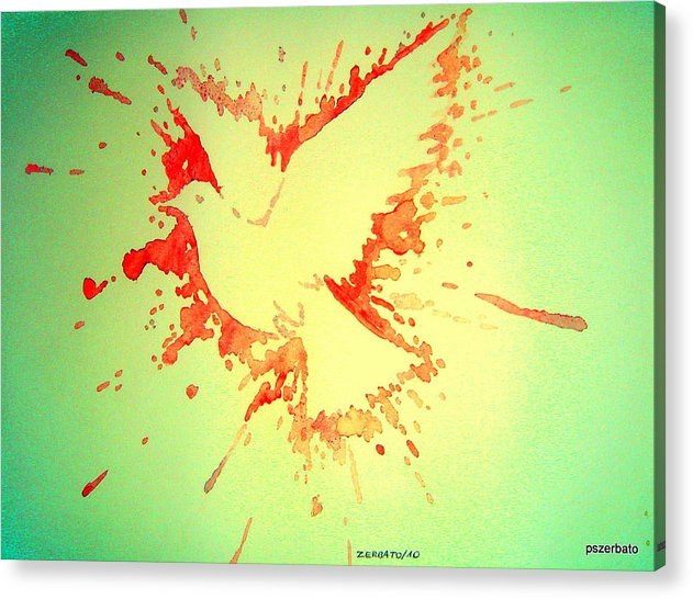 Peace Made By War Acrylic Print featuring the digital art Peace Made By War by Paulo Zerbato