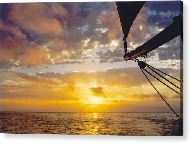 Sunset Acrylic Print featuring the photograph Peaceful Sailing by Kathy Schumann