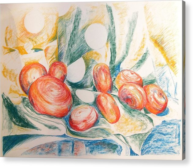 Still Life Acrylic Print featuring the Perles by Muriel Dolemieux