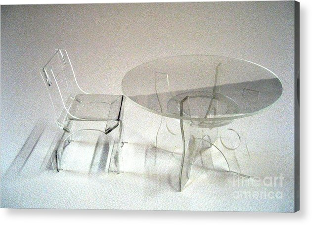 Perspex Furniture Acrylic Print featuring the sculpture Perspex Furniture by Ky Wilms
