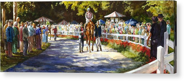 Watercolor Acrylic Print featuring the painting Promenade by Carolyn Epperly