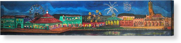 Asbury Art Acrylic Print featuring the painting Remember When by Patricia Arroyo