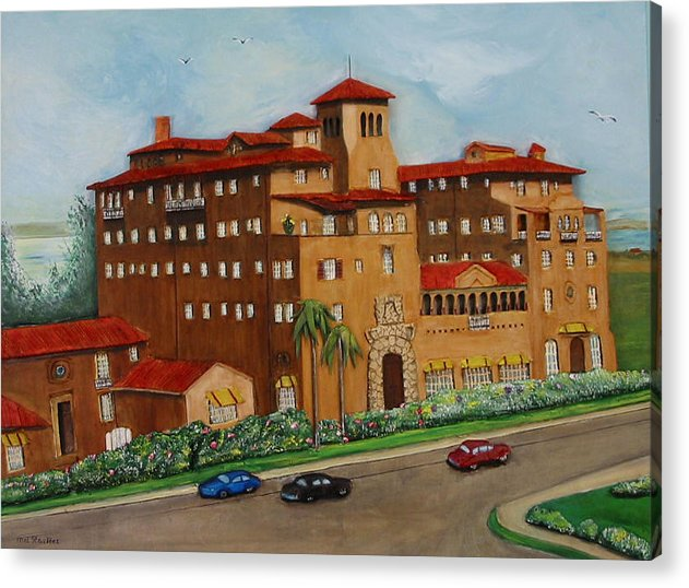 Ringling Acrylic Print featuring the painting Ringling Towers by Mel Stauffer