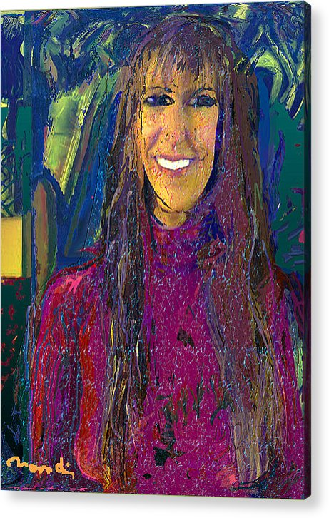 Portrait Acrylic Print featuring the painting Rios by Noredin Morgan