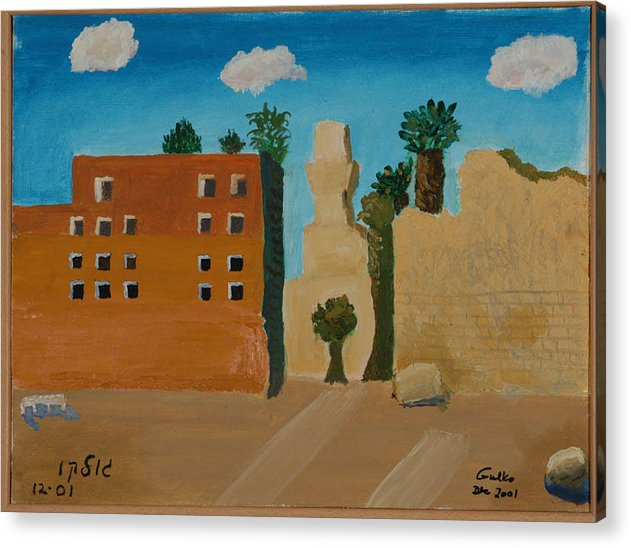 Religious Acrylic Print featuring the painting Ruins Of A Mosque by Harris Gulko