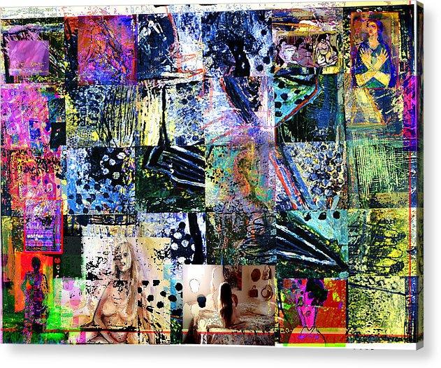 Abstract Acrylic Print featuring the painting Saga by Noredin Morgan