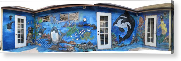 Mural Acrylic Print featuring the painting Sea Wall by Mikki Alhart