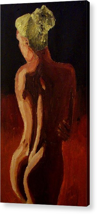 Nude Acrylic Print featuring the painting Shadows V by Mats Eriksson