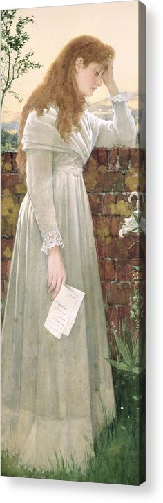 Sad Acrylic Print featuring the painting Silent Sorrow by Walter Langley