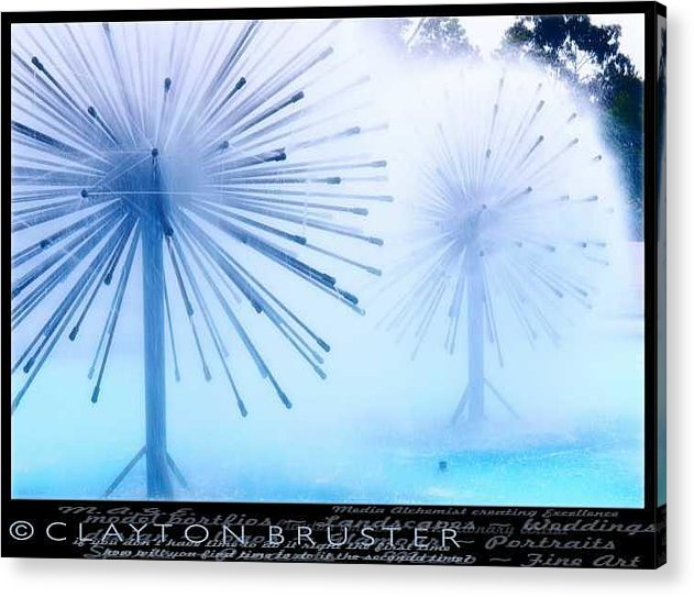 Clay Acrylic Print featuring the photograph Southern California Fountains by Clayton Bruster