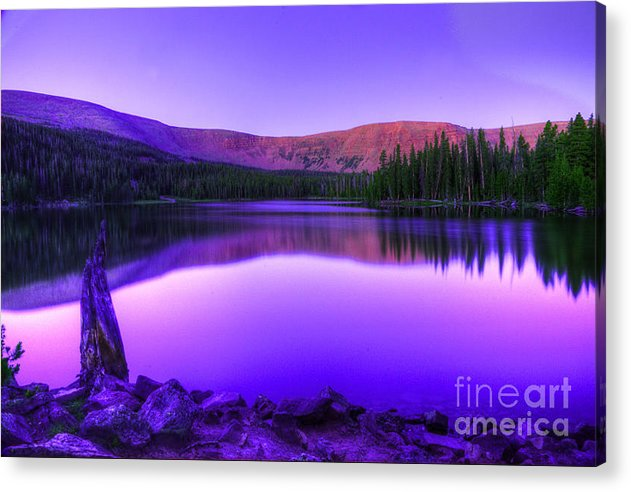 Utah Acrylic Print featuring the photograph Spirit Lake at Dawn by Dennis Hammer