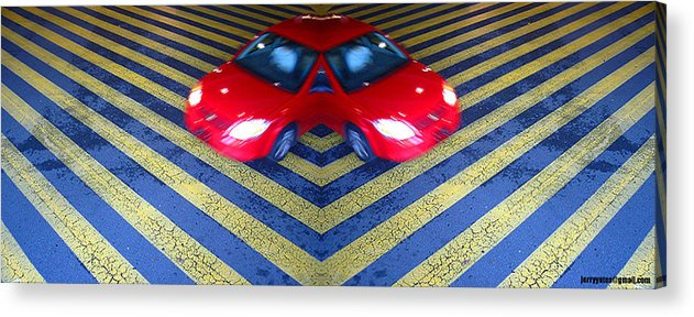 Car Acrylic Print featuring the photograph Split by Gerard Yates