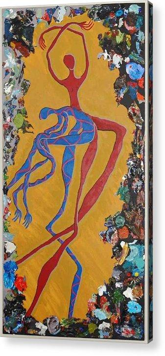 Figure Acrylic Print featuring the painting Split Persona by Rika Maja Duevel