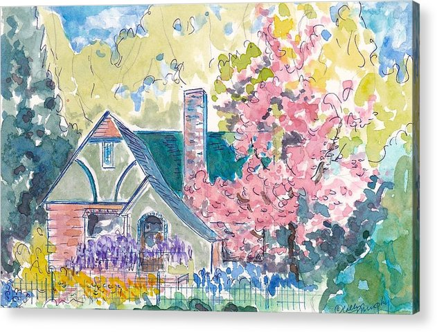 Landscape Acrylic Print featuring the painting Spring Exuberance by Collin Murphy