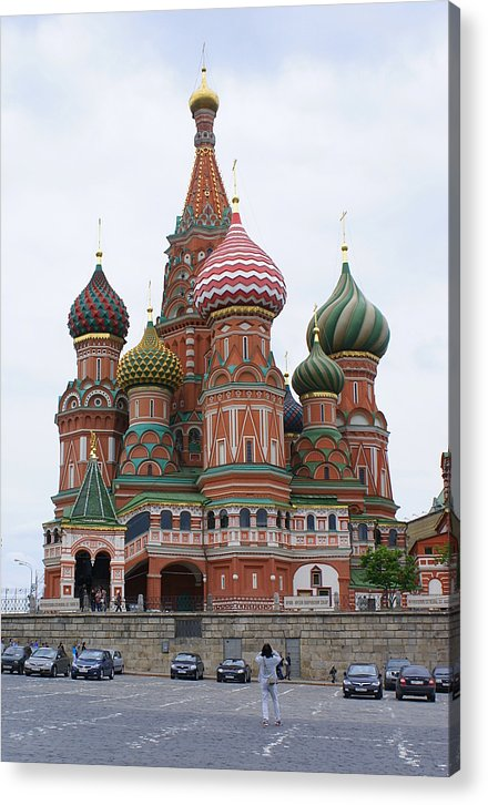 Moscow Acrylic Print featuring the photograph St. Basil's Cathedral 10 by Padamvir Singh