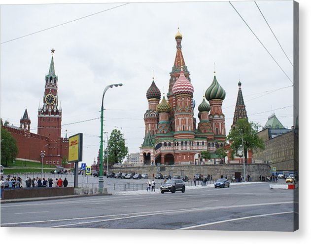 Moscow Acrylic Print featuring the photograph St. Basil's Cathedral 9 by Padamvir Singh
