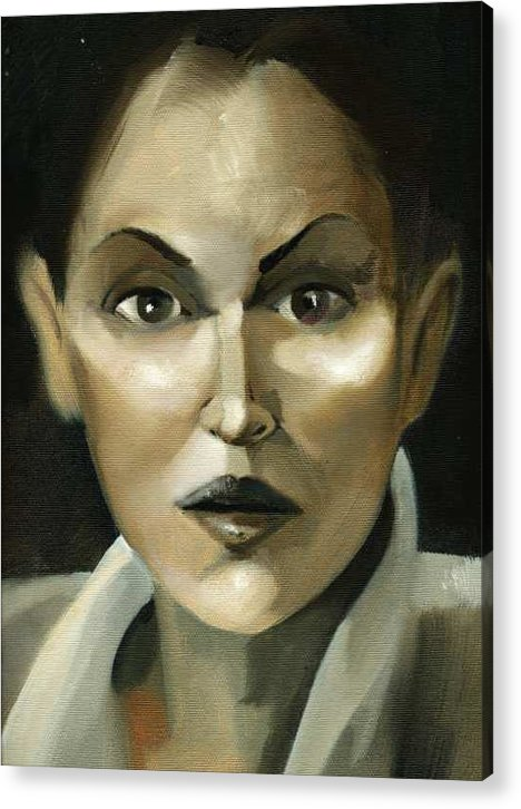 Girl Acrylic Print featuring the painting Stare by Neal Cormier