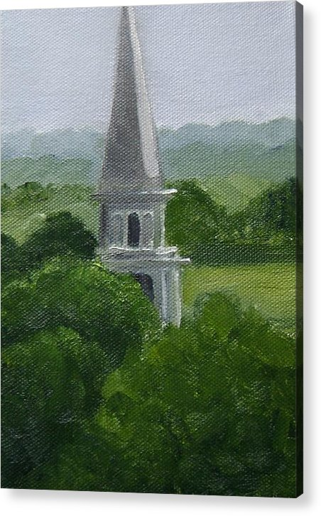 Steeple Acrylic Print featuring the painting Steeple by Toni Berry