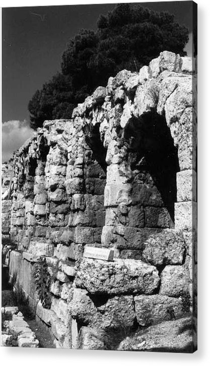 Stoa Of Eumenes Acrylic Print featuring the photograph Stoa Of Eumenes Athens by Susan Chandler