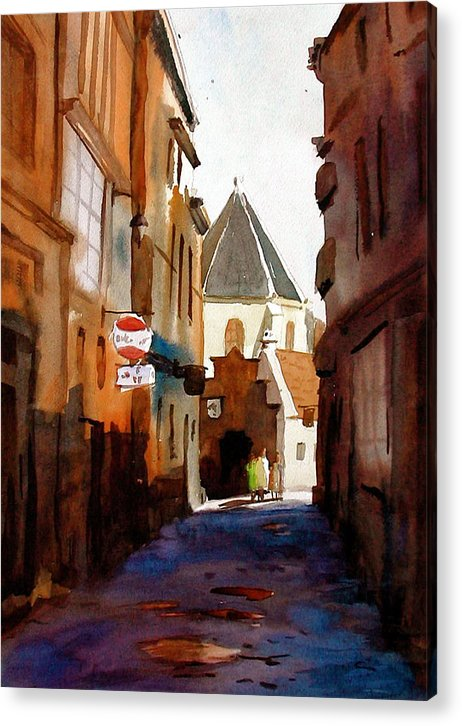 Sweden Acrylic Print featuring the painting Stockholm by Faye Ziegler