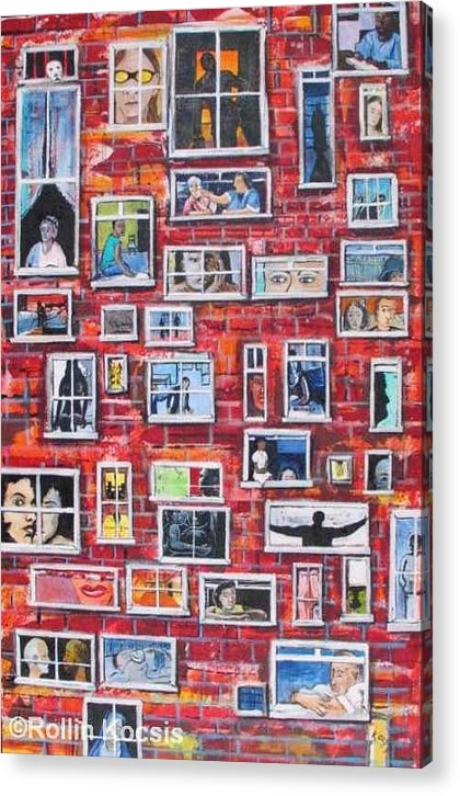 People Acrylic Print featuring the painting Stories by Rollin Kocsis