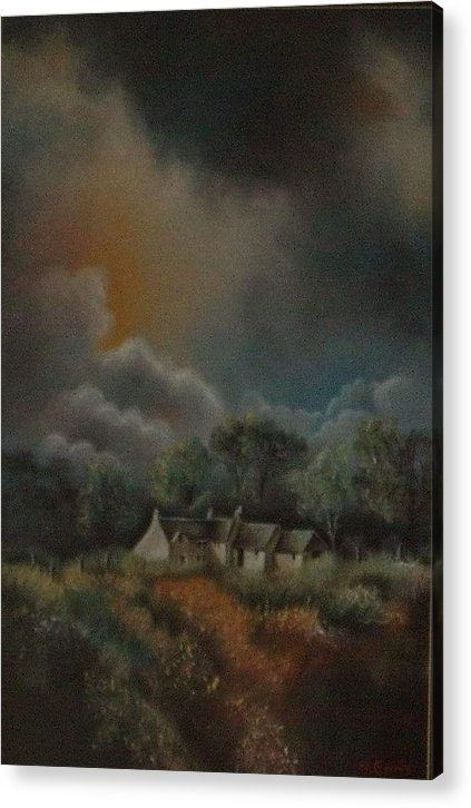 Landscape Acrylic Print featuring the painting Stormy Weather by Nellie Visser