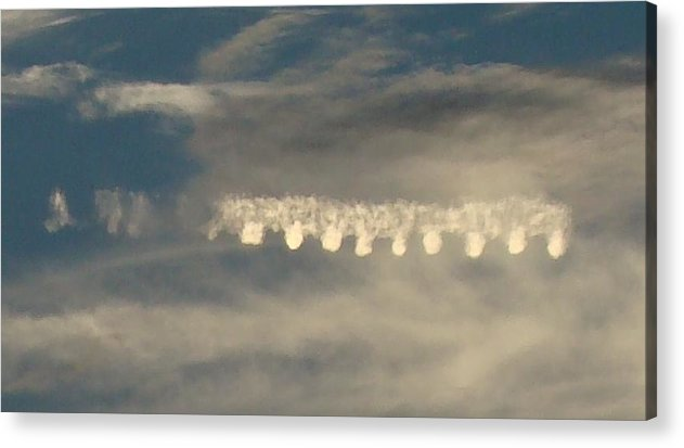 Clouds Acrylic Print featuring the photograph Strange Cloud Formation 2 by Gary N Smith