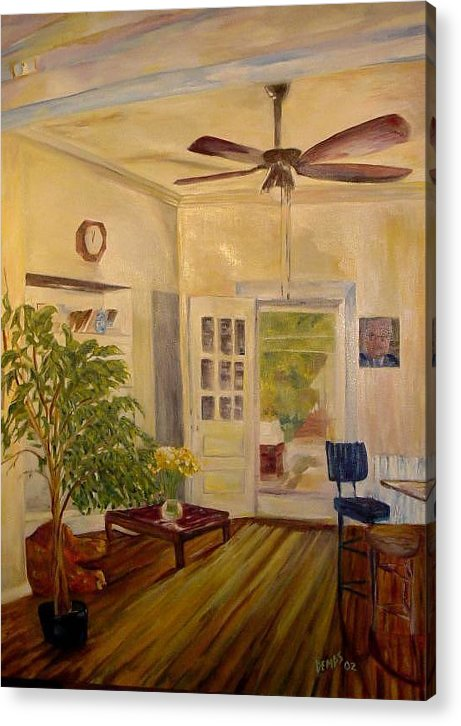 Interior Acrylic Print featuring the painting Sun-day by Impressionist FineArtist Tucker Demps Collection