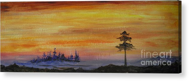 Sunset Acrylic Print featuring the painting Sunset Symphony by Rhonda Myers
