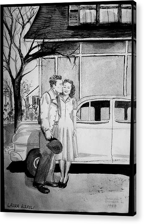 Couple Acrylic Print featuring the painting Sweet Memory by Laura Rispoli