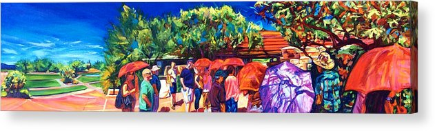 Southwest Acrylic Print featuring the painting Taliesin Pilgrims by Bonnie Lambert