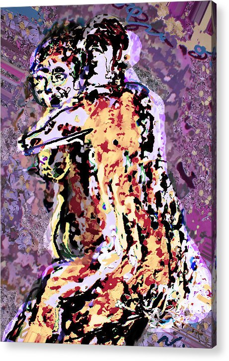 Acrylic Print featuring the painting Tango by Noredin Morgan