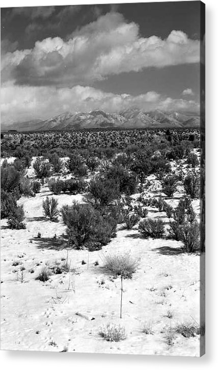 Snow Acrylic Print featuring the photograph Taos Snowfall by Susan Chandler