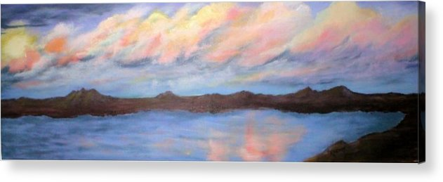 Clouds Acrylic Print featuring the painting The Clouds Roll By by Rhonda Myers